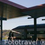 Tren rápido AVE. Estación de tren. Inaugurada en 1919. Ciudad de TOLEDO. Patrimonio de la Humanidad, UNESCO. Castilla La Mancha. España