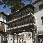 Plaza porticada, s.XVII, con balcones de madera. Población de TEMBLEQUE. Provincia de Toledo. Castilla La Mancha. España - Spain
