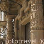 Detalle en la puerta principal. Palacio de las Torres. Población de TEMBLEQUE. Provincia de Toledo. Castilla La Mancha. España - Spain