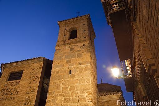 Torre. Mezquita Iglesia de El Salvador. (s.IX-XII). Convertida en iglesia cristiana en 1159. Toledo. Ciudad Patrimonio de la Humanidad, UNESCO. Castilla La Mancha. España