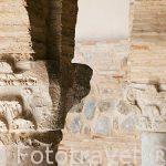 Detalle capiteles en el patio con arcos de herradura. Mezquita Iglesia de El Salvador. (s.IX-XII). Convertida en iglesia cristiana en 1159. Toledo. Ciudad Patrimonio de la Humanidad, UNESCO. Castilla La Mancha. España
