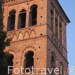 Torre mudejar de la iglesia de San Roman. Toledo. Ciudad Patrimonio de la Humanidad, UNESCO. Castilla La Mancha. España
