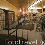Interior de las Termas romanas de la Plaza de Amador de los Rios. Toledo. Ciudad Patrimonio de la Humanidad, UNESCO. Castilla La Mancha. España