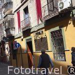 Calle de Alfonso X El Sabio. Ciudad de Toledo. Ciudad Patrimonio de la Humanidad, UNESCO. Castilla La Mancha. España