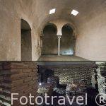 Arriba la Sala Caliente, abajo el Hipocausto. Baños arabes del Angel. Ciudad de Toledo. Ciudad Patrimonio de la Humanidad, UNESCO. Castilla La Mancha. España