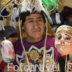 Mascaras en el taller de Luis Ricardo Ignacio. CHICHICASTENANGO. Departamento de Quiche. Guatemala. Centroamerica