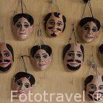 Mascaras variadas en un taller. CHICHICASTENANGO. Guatemala. Centroamerica