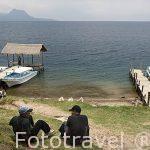 Embarcadero. SANTIAGO DE ATITLAN. Lago de Atitlan. Departamento de Sololá. Guatemala. Centroamerica