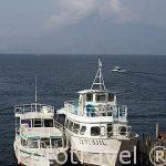 Embarcaciones en el embarcadero de PANAJACHEL. Lago de Atitlan. Departamento de Sololá. Guatemala. Centroamerica