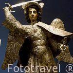 San Miguel Arcangel . Plata sobre madera. s. XVII-XVIII. Museo del Hotel Santo domingo. Ciudad de ANTIGUA. Departamento de Sacatepequez. Guatemala. Centroamerica