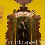 San Gertrudis Magna. talla en madera, policromada y encarnada, s.XVIII. Museo del Hotel Santo domingo. Ciudad de ANTIGUA. Departamento de Sacatepequez. Guatemala. Centroamerica