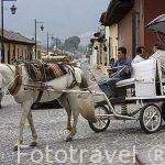 Carro turistico. Ciudad de ANTIGUA. Departamento de Sacatepequez. Guatemala. Centroamerica