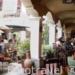 Restaurante Fonda en la calle Real. Ciudad de ANTIGUA. Departamento de Sacatepequez. Guatemala. Centroamerica