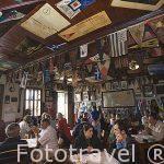 Interior del Cafe Sport (Peter Cafe Sport) Abierto desde 1918. Poblacion de Horta. Isla de FAIAL. Azores. Portugal