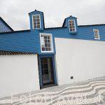 Casas en Lajes do Pico en la costa sur. Isla de PICO
