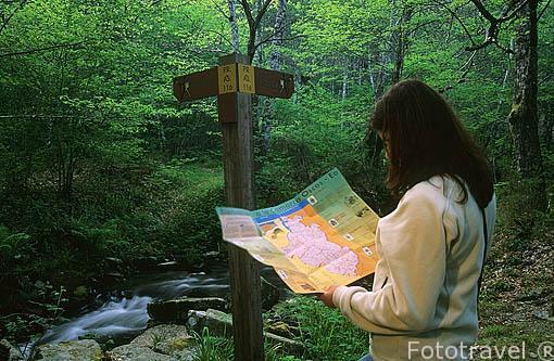Ruta de la cascada de la Seimeira. Cerca de SANTA EULALIA DE OSCOS. Asturias. España