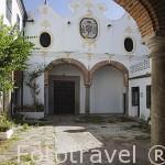 Patio interior del convento Nuestra Señora de la Paz, S.XVII- XVIII. Población de FREGENAL DE LA SIERRA. Provincia. Badajoz. Extremadura. España - Spain