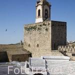 Plaza de toros, s.XVIII, dentro del recinto amurallado del castillo templario. FREGENAL DE LA SIERRA. Provincia. Badajoz. Extremadura. España - Spain