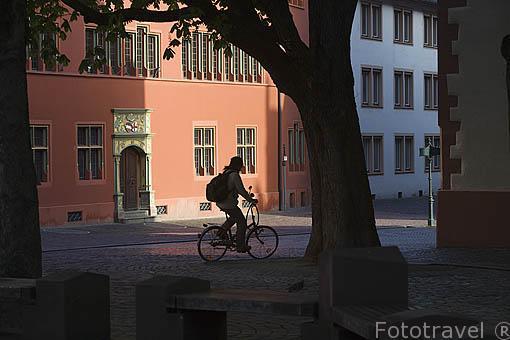 Edificio de la Oficina de Turismo. Casco historico de la ciudad Patrimonio de la UNESCO de FRIBURGO- FREIBURG. Alemania. Germany