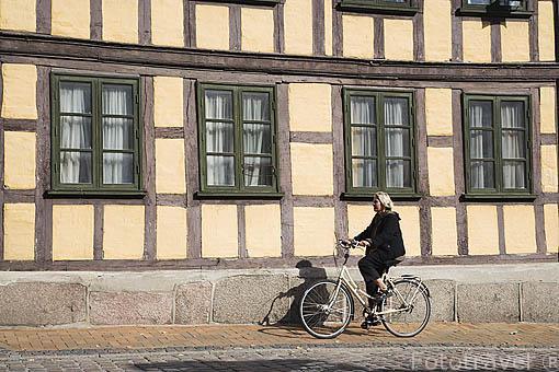 Calle Negergade. Centro histórico. Ciudad de ODENSE. Dinamarca