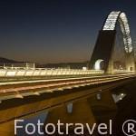 El moderno puente Lusitania sobre el rio Guadiana. MERIDA. Ciudad Patrimonio Unesco. Badajoz. Extremadura. España