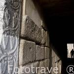 Entrada a la antigua torre que constaba de 3 plantas. En su base hay un aljibe. Interior de la alcazaba arabe. MERIDA. Ciudad Patrimonio de la Unesco. Badajoz. Extremadura. España
