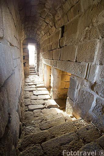 Decoraciones en el aljibe. Interior del recinto de la alcazaba arabe. MERIDA. Ciudad Patrimonio de la Unesco. Badajoz. Extremadura. España