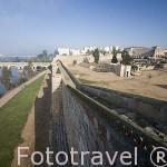 Puente romano sobre el río Guadiana. MERIDA. Ciudad Patrimonio de la Unesco. Badajoz. Extremadura. España