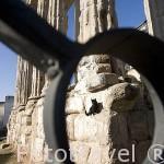 El templo de Diana, romano y uno de los más antiguos de la ciudad. Finales s. I a. C, en época del emperador Augusto. MERIDA. Ciudad Patrimonio Unesco. Badajoz. Extremadura.España