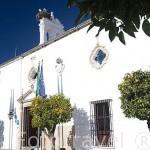 Fachada del edificio del Parador de Merida. Ciudad de MERIDA, Patrimonio de la Unesco. Badajoz. Extremadura. España