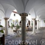 Patio interior. Parador de Merida. Ciudad de MERIDA, Patrimonio de la Unesco. Badajoz. Extremadura. España