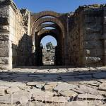 Arcos de entrada al Anfiteatro romano. MERIDA. Ciudad Patrimonio Unesco. Badajoz. Extremadura. España