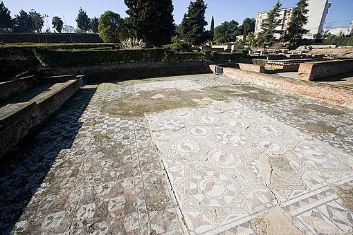 Habitacion del mosaico de los Peces. Casa del Anfiteatro. MERIDA. Ciudad Patrimonio Unesco. Badajoz. Extremadura. España
