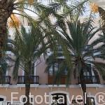 Fachada del hotel Mirador de Dalt Vila*****. En el casco historico de la ciudad de IBIZA. Islas Baleares. España
