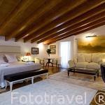 Habitación suite del hotel El Mirador de Dalt Vila. Ciudad de IBIZA. Islas Baleares. España