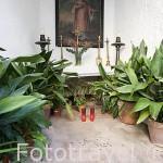 La capilla dedicada a San Ciriaco (1754) por donde se dice entraron los Cristianos a la ciudad en 1235. Parte alta del casco historico patrimonio de la UNESCO de IBIZA. Islas Baleares. España
