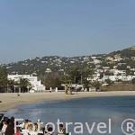 Terraza de restaurante junto al mar. Playa de Talamanca. En el termino de IBIZA. Mar Mediterraneo. Islas Baleares. España