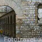 Puerta de acceso a la Plaza de Armas, s.XVIII. Ciudad de IBIZA, patrimonio de la Humanidad, UNESCO. Mar Mediterraneo. Islas Baleares. España