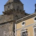 Las murallas en el barrio de Dalt Vila. Casco histórico es patrimonio de la Humanidad, UNESCO. Ciudad de IBIZA. Islas Baleares. España
