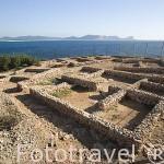 Restos del antiguo asentamiento fenicio de Sa Caleta, s.VII a.C.. Declarado en 1999 patrimonio de la Humanida, UNESCO. Sur de la isla de IBIZA. Islas Baleares. España