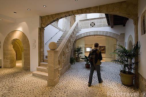 El Museo Puget esta situado en el palacio de Can Comasema. Casco historico de la ciudad de IBIZA, patrimonio de la Humanidad, UNESCO. Islas Baleares. España