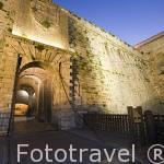 Puerta de ses Taules (Porta del Mar) y su puente levadizo da acceso a la muralla y al barrio de Dalt Vila. Ciudad de IBIZA, patrimonio de la Humanidad, UNESCO. Islas Baleares. España