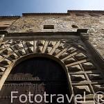 Fachada del Palacio Episcopal (s. XIII- XVIII) junto al arco de la Estrella. CACERES. Ciudad Patrimonio de la Humanidad. Extremadura. España