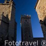 La torre de las Cigueñas, S.XV. En la Plaza de San Mateo. CACERES. Ciudad Patrimonio de la Humanidad. Extremadura. España