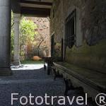 Jardin trasero. Palacio de Carvajal. Patronato de Turismo. s.XV - XV. CACERES. Ciudad Patrimonio de la Humanidad. Extremadura. España