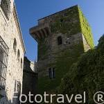 Torre de los Sande o de los Plata, s.XIV y la iglesia de San Mateo,s.XVI a la derecha. CACERES. Ciudad Patrimonio de la Humanidad. Extremadura. España