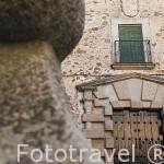 Fachada del Palacio de los Condes de Adanero, s.XVII. CACERES. Ciudad Patrimonio de la Humanidad. Extremadura. España