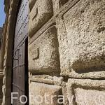 Palacio Episcopal, s.XIII - XVIII. Fachada que da a la plaza de Santa Maria. CACERES. Ciudad Patrimonio de la Humanidad. Extremadura. España