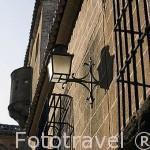 Detalle de la fachada de la Casa de los Solis o del Sol, s.XV. CACERES. Ciudad Patrimonio de la Humanidad. Extremadura. España