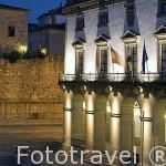 Edificio del Ayuntamiento en la Plaza Mayor. CACERES. Ciudad Patrimonio de la Humanidad. Extremadura. España